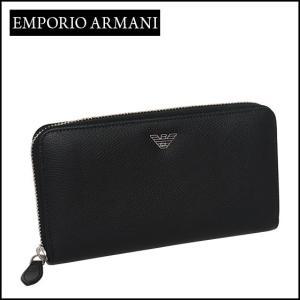 エンポリオアルマーニ (Emporio Armani) ラウンドファスナー長財布 YEME49 YAQ2E ブラック|daily-3
