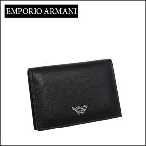 エンポリオアルマーニ (Emporio Armani) マチ付き名刺入れ YEM467 YC91E ブラック daily-3