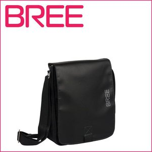 BREE PUNCH 52 メンズ ターポリンショルダーバッグ BLACK|daily-3