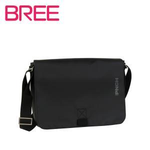 BREE PUNCH 62 メンズ ターポリンショルダーバッグ BLACK|daily-3