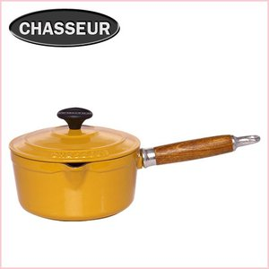 シャスール ソースパン(蓋付) 20cm イエロー ホーロー鍋|daily-3