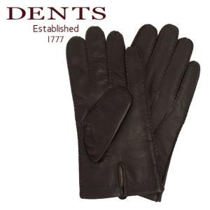 デンツ 手袋 メンズ レザー グローブ 革 防寒 カシミア 5-9201 BROWN タッチパネル対応|daily-3