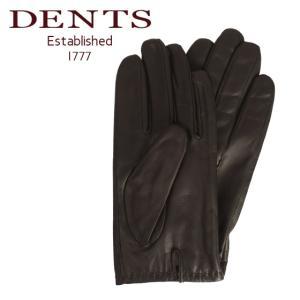 デンツ 手袋 メンズ レザー グローブ 革 防寒 5-9202 BROWN タッチパネル対応|daily-3
