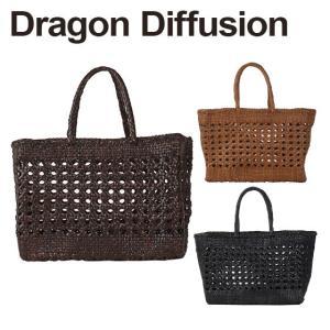 ドラゴンディフュージョン Dragon Diffusion レザーメッシュ トートバッグ 8801 CANNAGE BIG 選べるカラー|daily-3