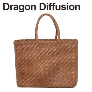 ドラゴンディフュージョン Dragon Diffusion レザーメッシュ トートバッグ 8803 45 Basket BIG Tan|daily-3