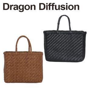 ドラゴンディフュージョン Dragon Diffusion レザーメッシュ トートバッグ 8807 45 Basket SMALL 選べるカラー|daily-3