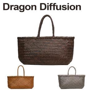 ドラゴンディフュージョン Dragon Diffusion レザーメッシュ トートバッグ 8810 BAMBOO TRIPLE JUMP BIG 選べるカラー|daily-3