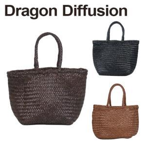 ドラゴンディフュージョン Dragon Diffusion レザーメッシュ トートバッグ 8813 Grace Basket SMALL 選べるカラー|daily-3