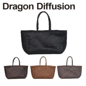 ドラゴンディフュージョン Dragon Diffusion レザーメッシュ トートバッグ 8856 Grace Basket BIG 選べるカラー|daily-3
