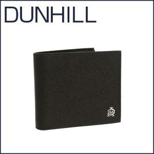 DUNHILL(ダンヒル)BOURDON レザー 二つ折り財布(小銭入れ付き) L2X232A ブラック|daily-3