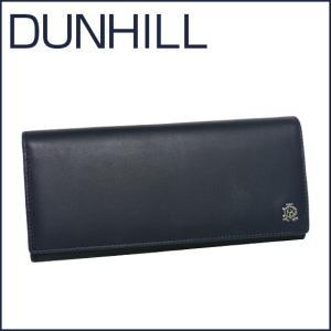 DUNHILL(ダンヒル)REEVES レザー 長財布(小銭入れ付き) L2XR10N ネイビー|daily-3