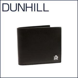 DUNHILL(ダンヒル)REEVES レザー 二つ折り財布(小銭入れ付き) L2XR32A ブラック|daily-3