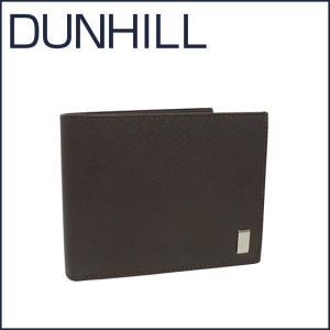 DUNHILL(ダンヒル)SIDECAR レザー 二つ折り財布(小銭入れ付き) FP3070E ブラウン|daily-3