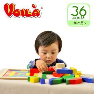 VOILA (ボイラ)ヴァーサタイルズ パズル 木製モザイク遊び daily-3