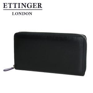 エッティンガー 財布 メンズ パープル コレクション 2051JR ラウンドファスナー長財布 ブラック|daily-3