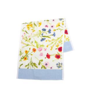 フェイラー ハンドタオル 37cm×80cm Flower Meadow ・ブリーズ(ライトブルー)|daily-3