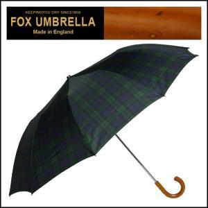 フォックスアンブレラズ 折りたたみ傘 TEL3 マラッカクルックハンドル ブラックウォッチタータン|daily-3