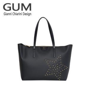 ジャンニキャリーニ トートバッグ GUM Gianni Chiarini Design BS 1704・18AI STAR STUD ブラック|daily-3