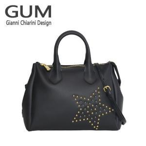 ジャンニキャリーニ 2WAY ショルダーハンドバッグ GUM Gianni Chiarini Design BS 1740T・18AI STAR STUD ブラック|daily-3
