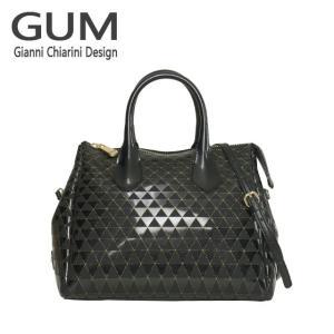 ジャンニキャリーニ 2WAY ショルダーハンドバッグ GUM Gianni Chiarini Design BS 1740T・18AI AFRICAN VIBE ヴェルニーチェブラック|daily-3