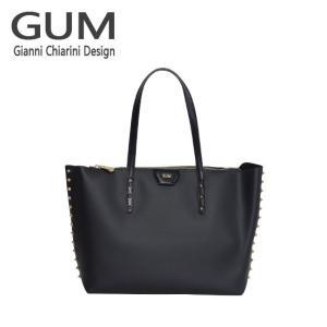 ジャンニキャリーニ トートバッグ GUM Gianni Chiarini Design BS 1714・18AI GUM GOLD ブラック|daily-3