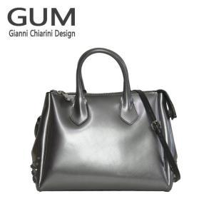 ジャンニキャリーニ 2WAY ショルダーハンドバッグ GUM Gianni Chiarini Design BS 1900T・18AI COLORSTUD グレー|daily-3