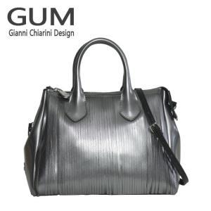 ジャンニキャリーニ 2WAY ショルダーハンドバッグ GUM Gianni Chiarini Design BS 3700T・18AI GUM FR LM グレー|daily-3