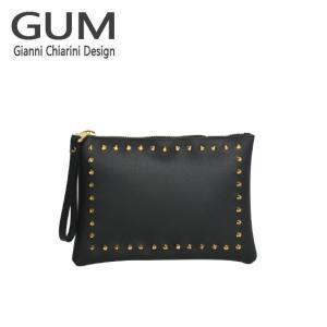 ジャンニキャリーニ クラッチバッグ GUM Gianni Chiarini Design BC 4042・18AI GUM GOLD ブラック|daily-3