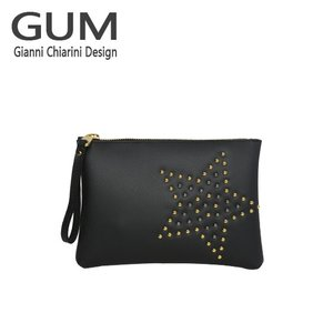 ジャンニキャリーニ クラッチバッグ GUM Gianni Chiarini Design BC 4052・18AI STAR STUD ブラック|daily-3