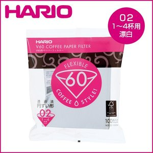 HARIO(ハリオ)V60用ペーパーフィルター 酵素漂白02袋 100枚入り (4杯用)VCF-02-100W|daily-3