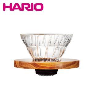 HARIO(ハリオ)V60 耐熱ガラス透過ドリッパー VDG-01-OV オリーブウッド 1〜2杯用|daily-3