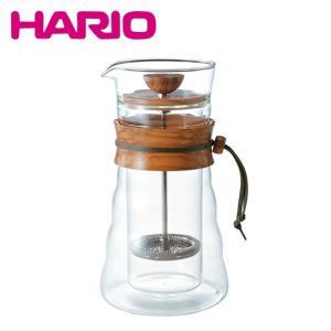 HARIO(ハリオ)ダブルグラスコーヒープレス DGC-40-OV 400ml(3杯用)|daily-3