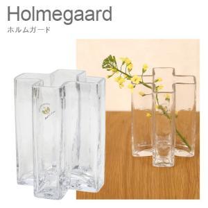 ホルムガード 花瓶 ガラス 花器 クロス フラワーベース 12cm クリアー H12 4343831 Holmegaard|daily-3