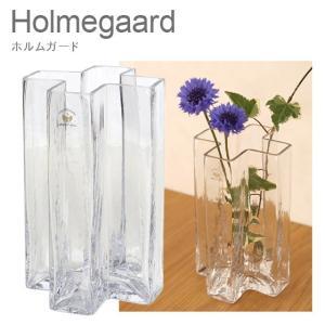 ホルムガード ガラス 花瓶 花器 クロス フラワーベース 18cm クリアー H18 4343832 Holmegaard|daily-3