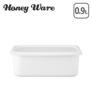 Honey Ware(ハニーウェア)Konte 深型角容器 M リリーホワイト|daily-3