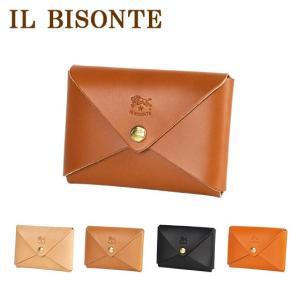 イルビゾンテ カードケース 名刺入れ メンズ レディース IL BISONTE C0854P 選べるカラー|daily-3