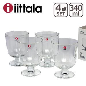 イッタラ レンピ グラス 4個セット 340ml クリアー|daily-3