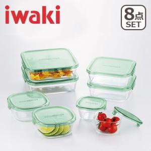 iwaki(イワキ)パック&レンジ 角型8点セット グリーン PSC-PRN-8G 耐熱ガラス 保存容器 daily-3