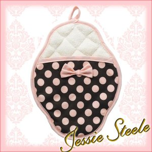 ジェシースティール ポットミトン ブラウン&ピンクドット jessie steele|daily-3