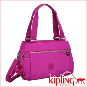 キプリング 2WAYショルダーハンドバッグ ORELIE K15257 ピンクオーキッド|daily-3