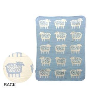 KLIPPAN クリッパン キッズシュニール織り ブランケット 70x90 SHEEP (ヒツジ) ブルー|daily-3