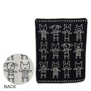 KLIPPAN クリッパン キッズシュニール織り ブランケット 70x90 HUG (アニマル)ブラック|daily-3