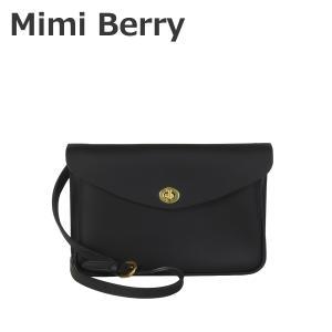 Mimi Berry ミミベリー Eric レザー ショルダーバッグ Black|daily-3
