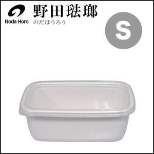 野田琺瑯 ホーロー ホワイトシリーズ レクタングル深型 S シール蓋付 daily-3