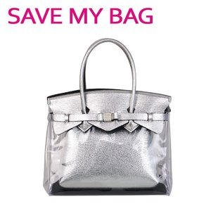 SAVE MY BAG (セーブマイバッグ)MISS PLUS PVC AQUA ミス プラス ハンドバッグ 20204N-PV-TU|daily-3