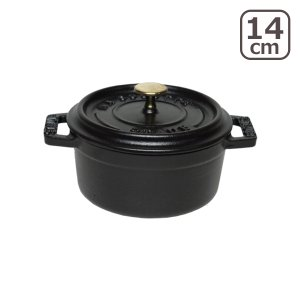 ストウブ 鍋 Staub ピコ ココット ラウンド 14cm ブラック|daily-3