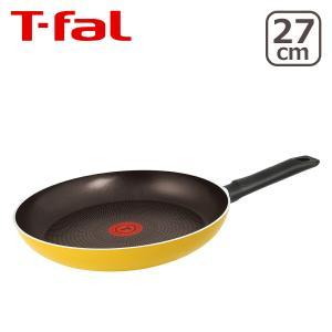 T-fal(ティファール)【直火専用(IH不可)】パワーグライドシリーズ レモネード フライパン 27cm B20006