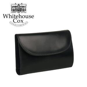 ホワイトハウスコックス 三つ折り財布小銭入れ付 #S7660 BLACK/NAVY  WHITEHOUSE COX|daily-3