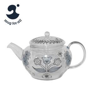 mug for all 松尾ミユキ チャミエルVポット ブルー 草花|daily-3