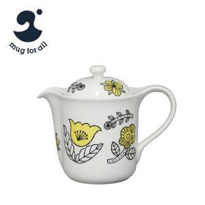 mug for all 松尾ミユキ Vポット イエロー 草花|daily-3